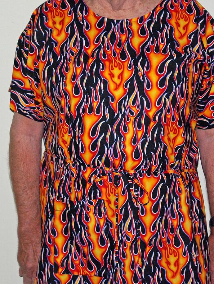 Flames Hospital Gown