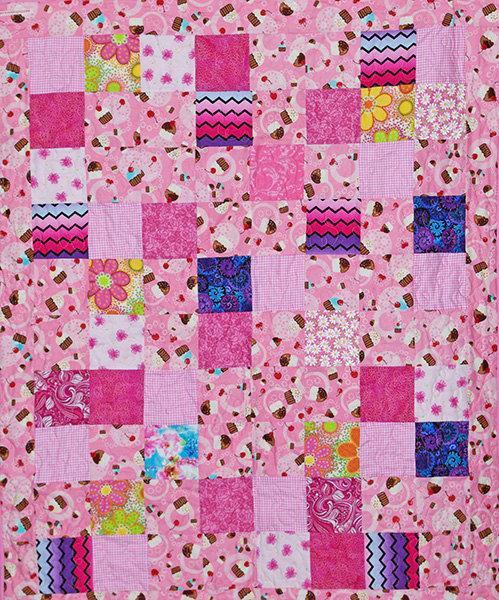 Pink  Cupcakes Child's Quilt