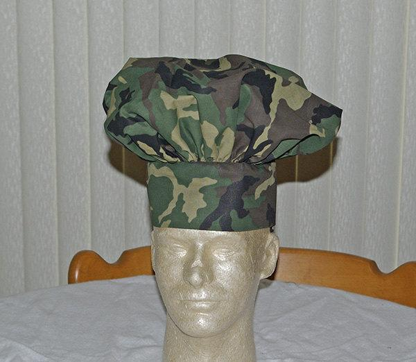 Kids Camouflage Chef's Hat