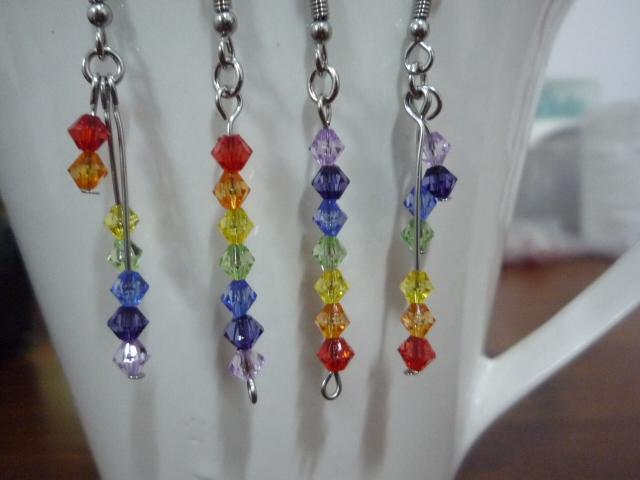 Double Rainbow Lines - Quad-set Earrings