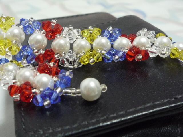 Multi-colour cuff-bracelet