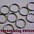 600 one inch nickel plated split rings / key rings