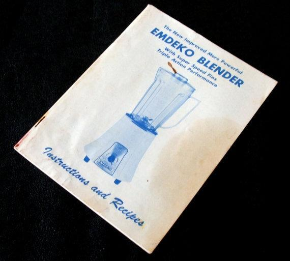 Vintage Emdeko Blender Instruction Manual / Recipe Book
