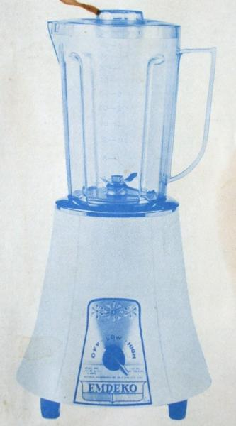Vintage Emdeko Blender Instruction Manual / Recipe Book