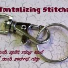 100 one inch nickel plated split rings / key rings