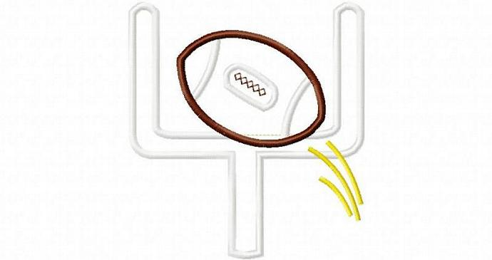 Football Goal Applique Machine Embroidery Design