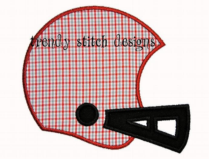 Football Helmet Applique Design Machine Embroidery Design