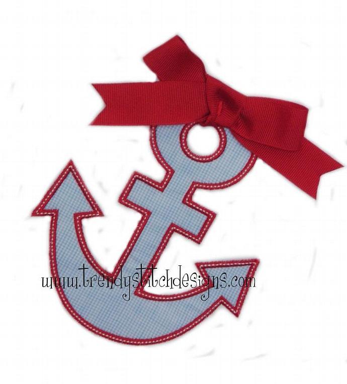 Anchor 2 Applique Design Machine Embroidery Design