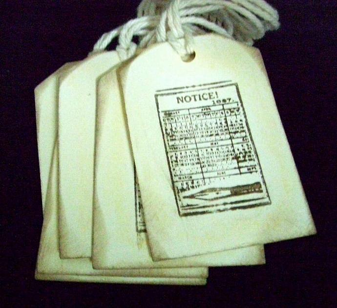 Vintage Handmade Notice Gift Tags