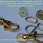 40 Gold Colored Lobster Swivel Clasps - 1.5 INCH