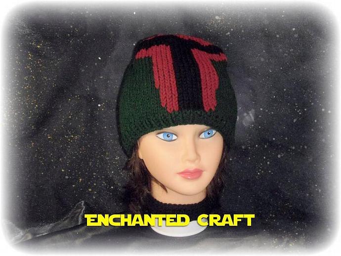 Hand Knitted BOBA FETT Hat - STAR WARS fan favorite
