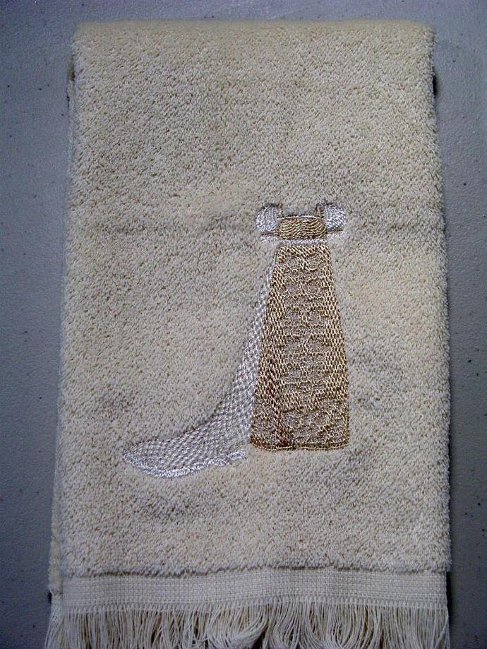 GREEK REVIVAL DRESS fingertip towel