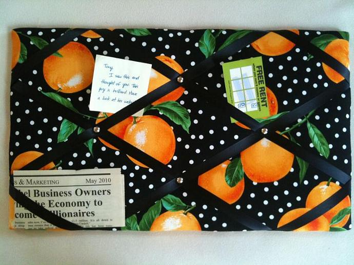 """Pin Boards/Notice Boards/Memo/ """"Oranges"""""""