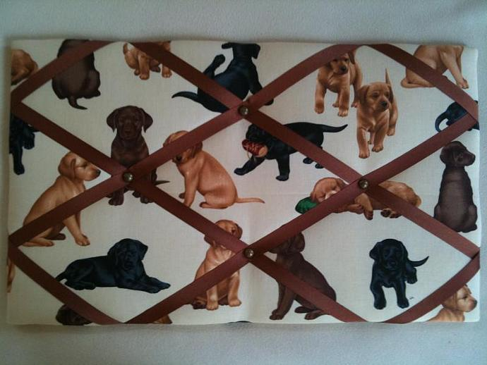 "Pin Boards/Notice Boards/Memo/ ""Cute Labradors"""