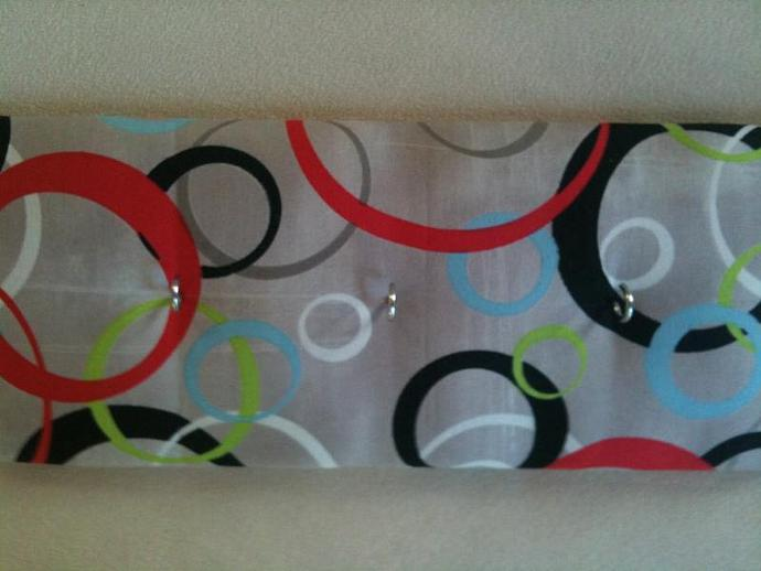 "3 Hooks, Key Rack, Key Holder, ""Hoops & Loops"""