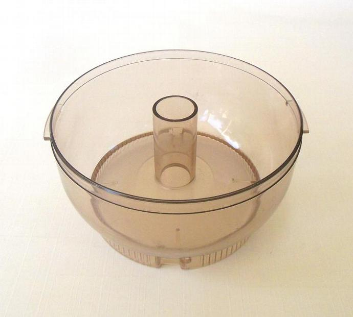 Sunbeam Oskar Replacement Part Processing Bowl 14081 14181 Clear Brown Plastic