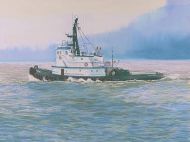 """""""North To Juneau"""" Canvas Giclee Print by Carol Thompson"""