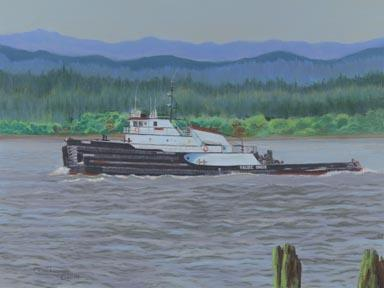 """Chinook On The Ply"" Canvas Giclee Print by Carol Thompson"