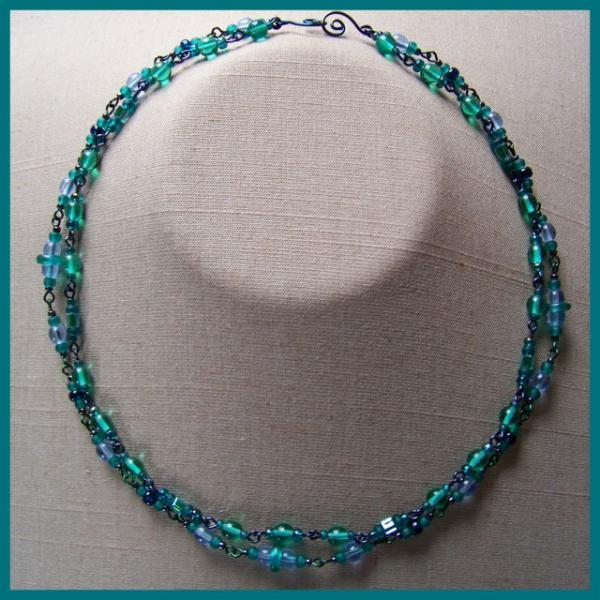 Blue Teal Double Necklace
