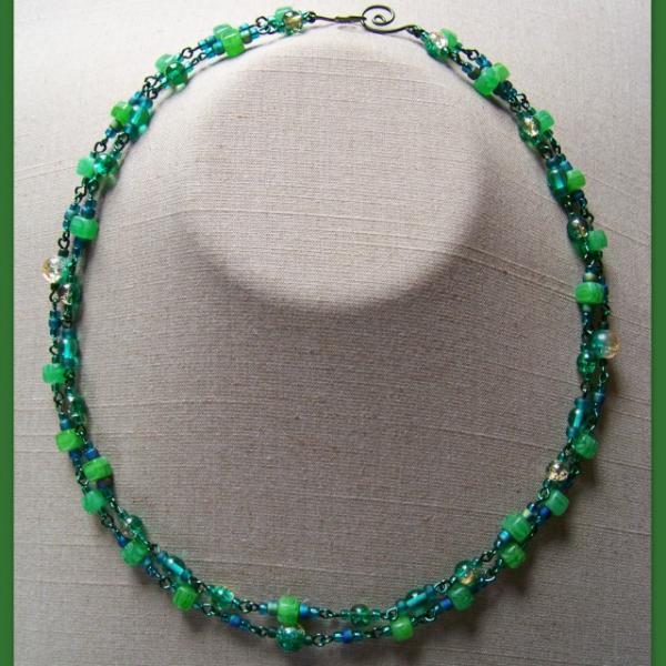 Emerald Cubes Double Necklace