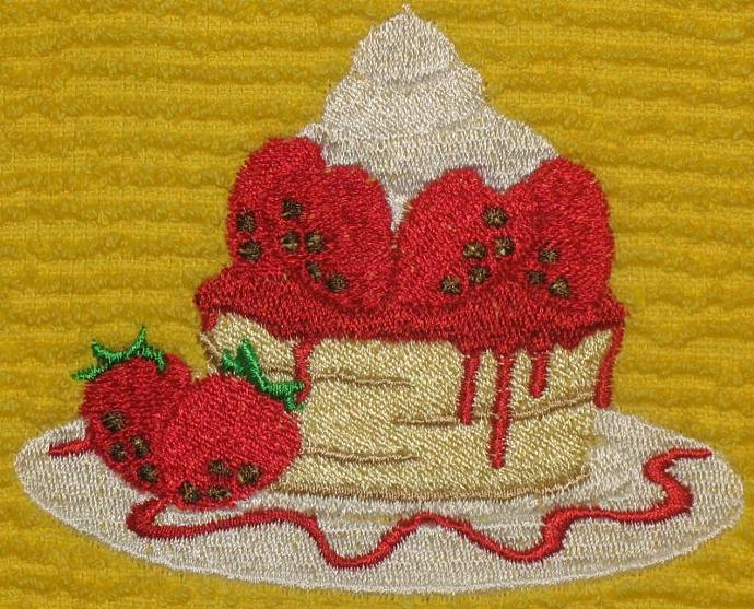 STRAWBERRY SHORTCAKE kitchen towel