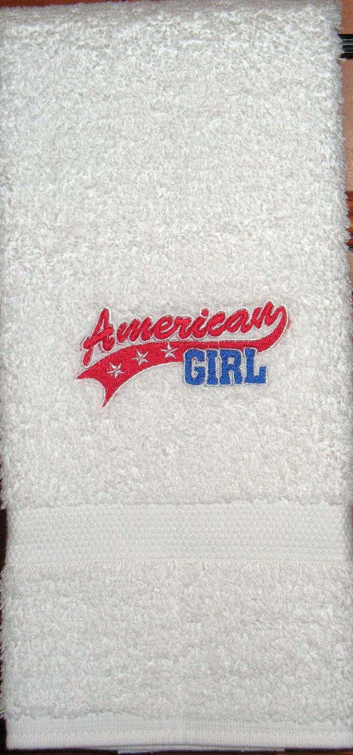 AMERICAN GIRL hand towel