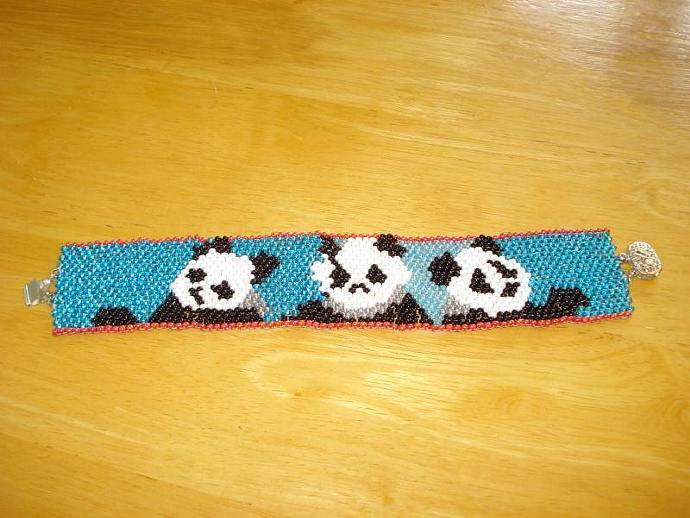 Panda Peyote Bracelet