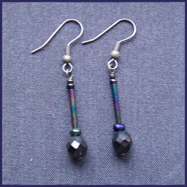 Faceted Spindle Earrings