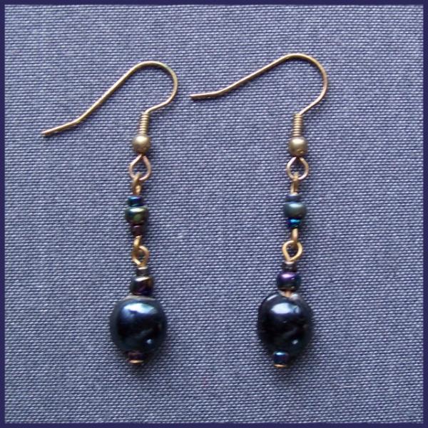 Domed Peacock Earrings