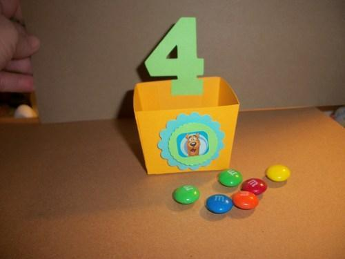Candy favor box /birth number /choice of decoration/themed parties