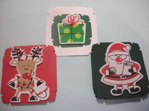 Christmas Holiday Mini Note Cards Set / envelopes and sticker seals