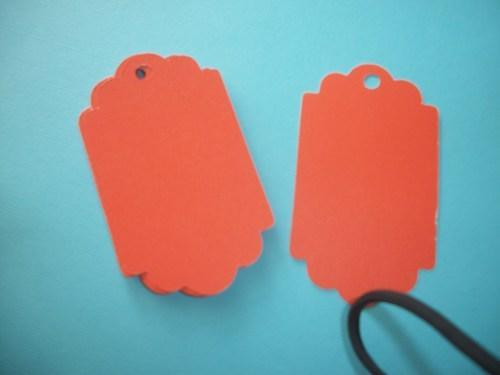 Pick your color Double edged scallop Blank hang tags / DIY projects