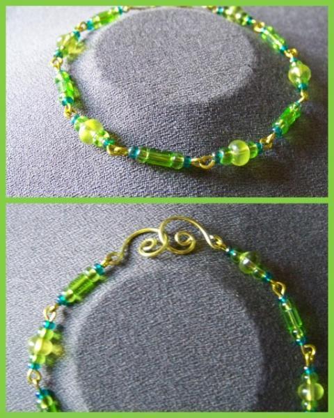 Peridot Teal Bracelet