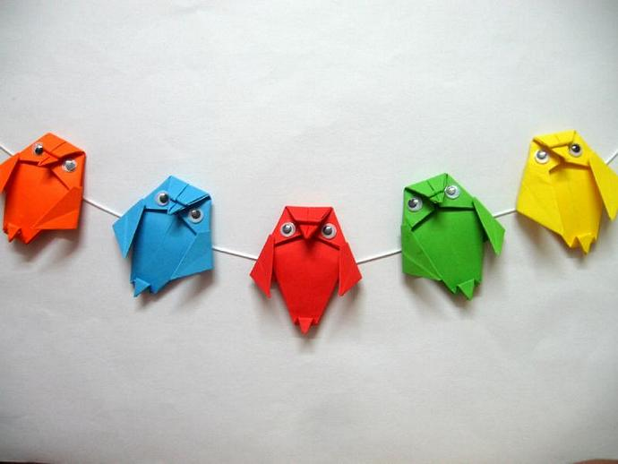 Origami Owl Garland Set Of 10 String By Colourfulorigami On Zibbet