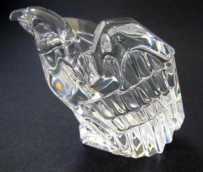 Signed Steuben Eagle glass