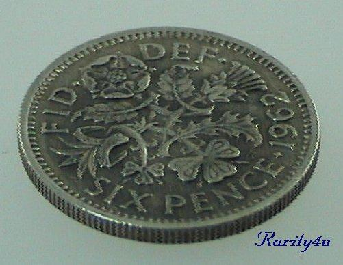 C 551 Elizabeth II British Cupro Nickel Sixpence 1962