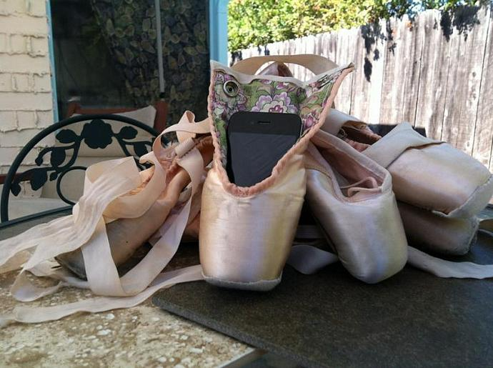 Ballet Calls -- Repurposed Pointe Shoe Cell Phone Case