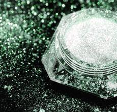Dramatic Mirage Faery Dust Powder - Forest Green - 3 gram jar packed - eye