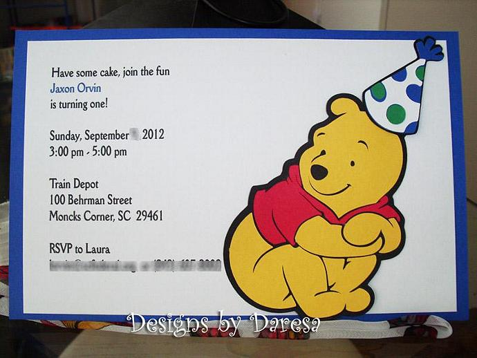 Winnie The Pooh Birthday Cards Set Of 12 By Designsbydaresa On