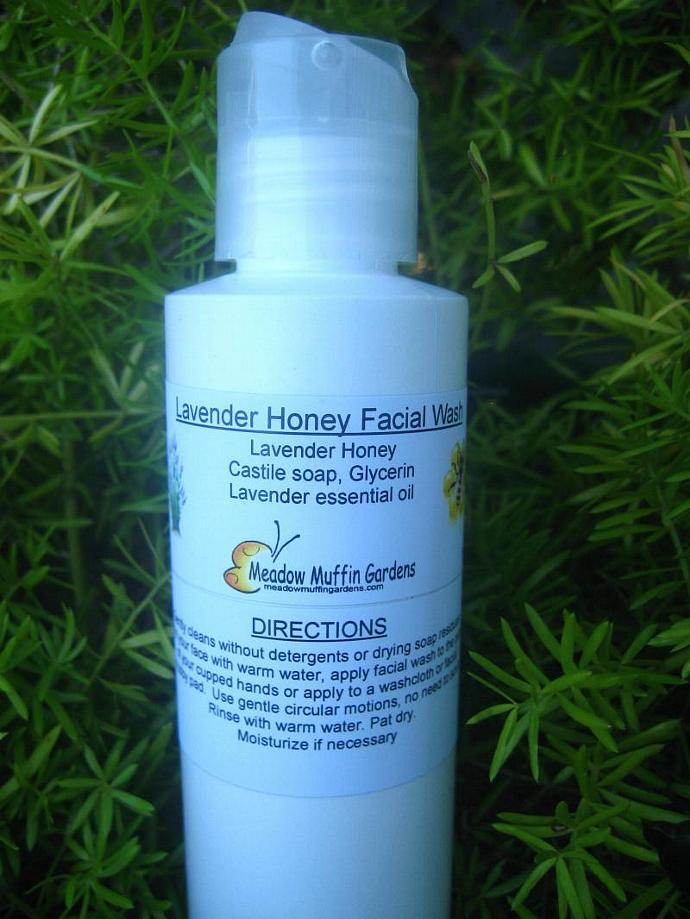 Lavender Honey n' Glycerin Facial Wash, 4 oz., all skin types, Gentle Cleanse