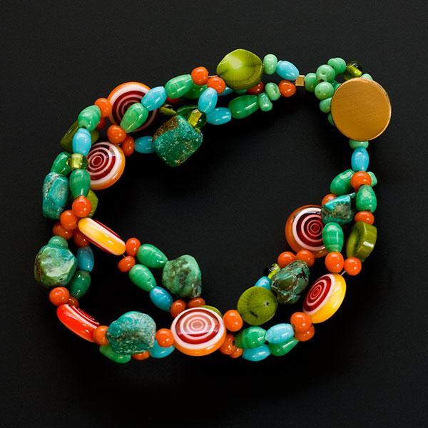 Colorful double bracelet - think candy and fun!