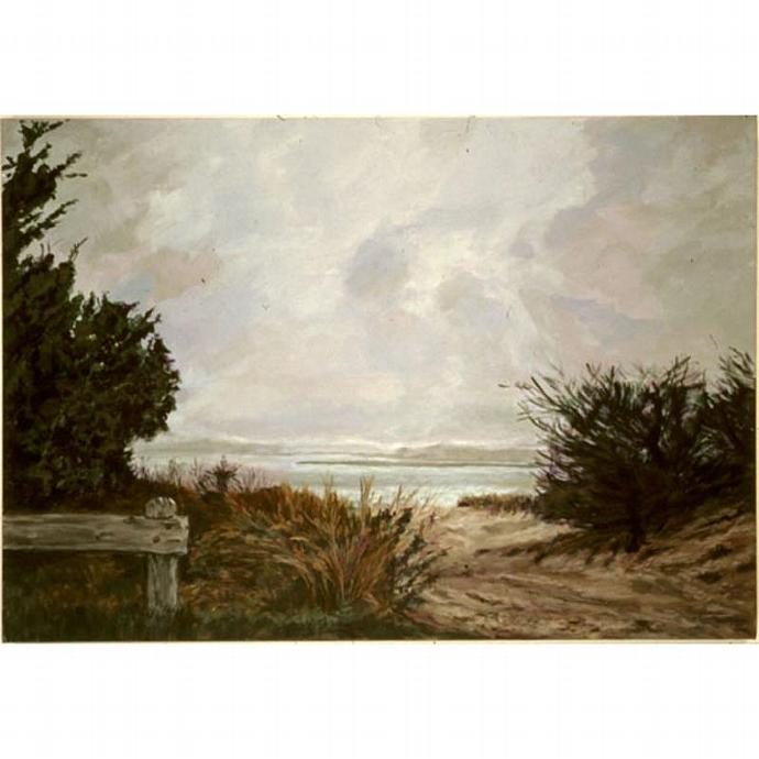 East Hampton Light (Original Seascape Painting)