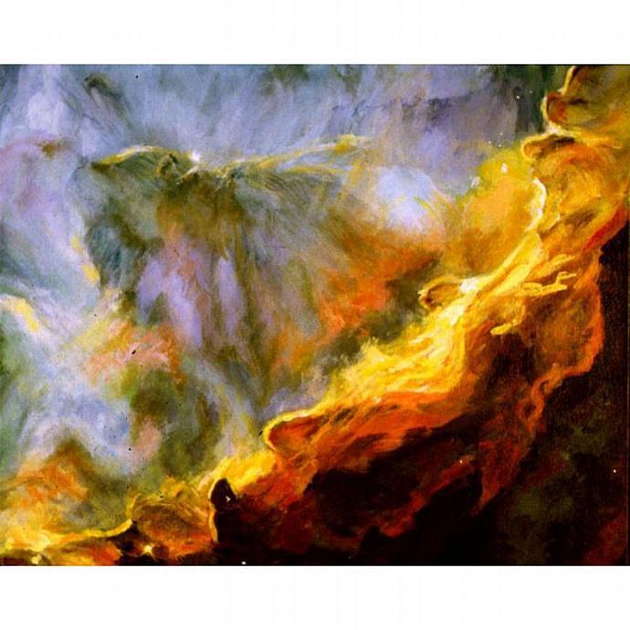 The Swan Nebula (A Space Landscape)