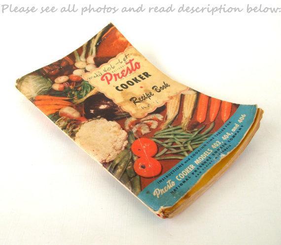33af9faa2adda Presto Pressure Cooker 403 404 406 Instruction Manual Recipe Book