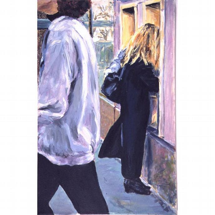 January Jog: The ATM (Cityscape With Figure)
