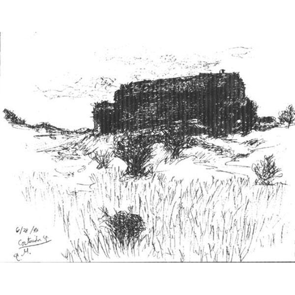 In Cortuida ( Spanish Landscape Drawing)