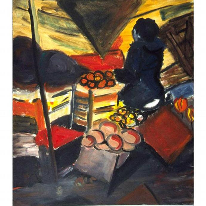 The Fruitman On The Canal (A Fauvist Painting)