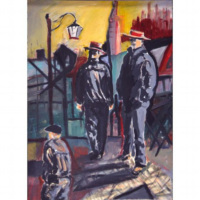 The  Gondoliers (A Fauvist Painting )