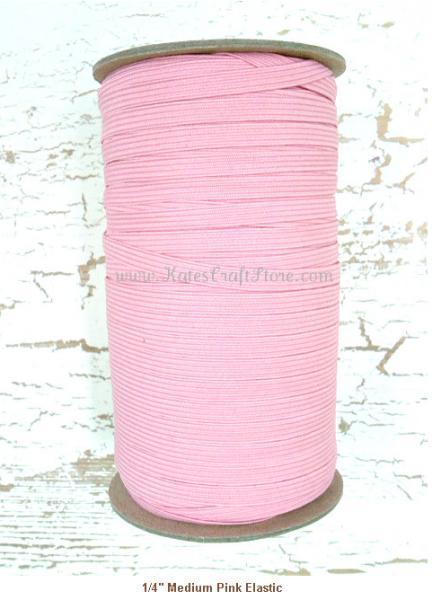 """1/4"""" Medium Pink Elastic --- ZIBBET"""