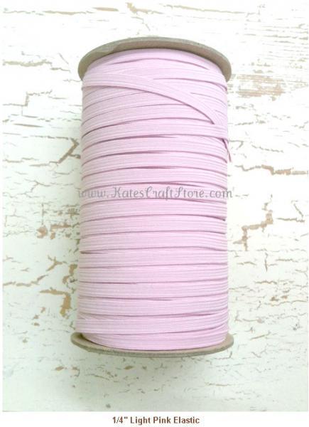 """1/4"""" Light Pink Elastic --- ZIBBET"""